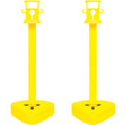 "X-Treme Duty Stanchion, 45-1/2"" Overall Height, Yellow, Sold in Pack of 2"