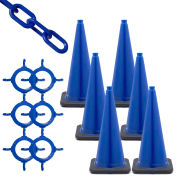 Mr. Chain Traffic Cone & Chain Kit - Blue, 93206-6