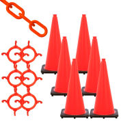 Mr. Chain Traffic Cone & Chain Kit - Traffic Orange, 93213-6
