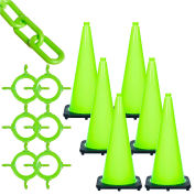 Mr. Chain Traffic Cone & Chain Kit - Safety Green, 93214-6