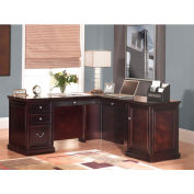 Martin Furniture L-Shaped Desk Return - Fulton Office Series