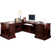Martin Furniture Desk and Return Combined Price - Mount View Office Series