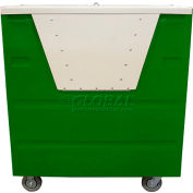 MODRoto Forest Green Hopper Front Security 72P Poly-Trux® with Lid 48 Cu. Ft