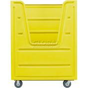 MODRoto Lemon Yellow Hopper Front 72P Poly-Trux® 48 Cu Ft with Steel Base