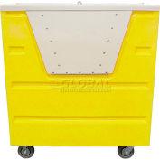 MODRoto Lemon Yellow Hopper Front Security 72P Poly-Trux® & Lid 48 Cu Ft