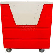 MODRoto Red Hopper Front Security 72P Poly-Trux® with Lid 48 Cu. Ft.