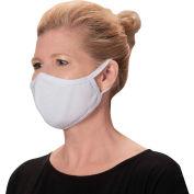 Reusable Face Mask, 2-Ply Cotton, M/L, White, 2/Pack