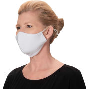 Reusable & Adjustable Face Mask, 2-Ply Cotton, M/L, White, 2/Pack