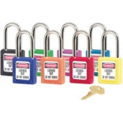 No. 410 & 411 Lightweight Zenex™ Safety Lockout Padlocks, Master Lock 410ORJ - Pkg Qty 6