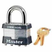 Master Lock® Key Retaining Laminated Steel Padlock Keyed Different - Pkg Qty 24