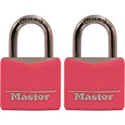 Master Lock® No. 136T Pink Covered Solid Body Padlock - Pkg Qty 16