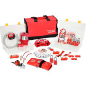 Master Lock® Portable Safety Organizer With Valve & Electrical Lockout Assortment, 1458VE11106