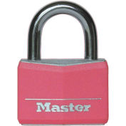 Master Lock® No. 146D Pink Covered Solid Body Padlock - Pkg Qty 24