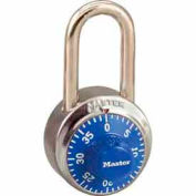 Master Lock® General Security Combo Padlock LF Shackle, Blue Dial