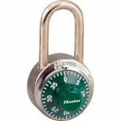 Master Lock® General Security Combo Padlock LF Shackle, Green Dial