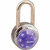Master Lock® General Security Combo Padlock LF Shackle, Purple Dial