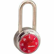 Master Lock® General Security Combo Padlock LH Shackle, Red Dial