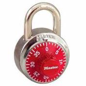 Master Lock® General Security Combo Padlock, Red Dial