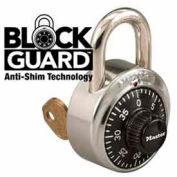 Master Lock® No. 1525 1525 General Security Combo Padlock, Key Control, Black Dial