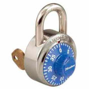 Master Lock® No. 1525BLU General Security Combo Padlock, Key Control, Blue dial