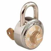 Master Lock® General Security Combo Padlock, Key Control, Gold dial