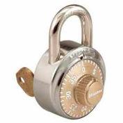 Master Lock® General Security Combo Padlock, Key Control, Gold dial