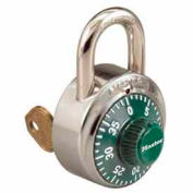 Master Lock® General Security Combo Padlock, Key Control, Green dial