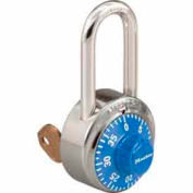 Master Lock® General Security Combo Padlock, Key Control, LF Shackle, Blue