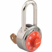 Master Lock® General Security Combo Padlock, Key Control, LF Shackle, Orange