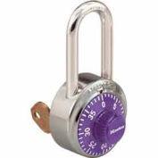 Master Lock® General Security Combo Padlock, Key Control, LF Shackle, Purple
