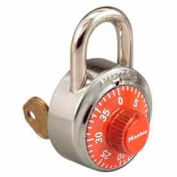 Master Lock® General Security Combo Padlock, Key Control, Orange dial