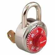 Master Lock® General Security Combo Padlock, Key Control, Red dial