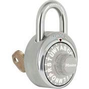 """Master Lock® Letter Lock 3-Letter-Combo Padlock 3/4"""" Inside Shackle HT, Key Override,Gray Dial"""