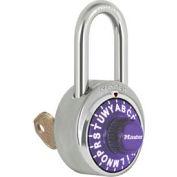 """Master Lock® Letter Lock 3-Letter-Combo Padlock 1-1/2"""" Inside Shackle HT, Key Override, Pl Dial"""