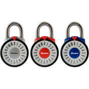 """Master Lock® Magnification Combination Dial Padlock, 1588T - 7/8"""" Shackle, Assorted - Pkg Qty 2"""