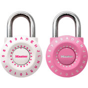 Master Lock® No. 1590DPNK Pink Combination Letter Padlock - Pkg Qty 16
