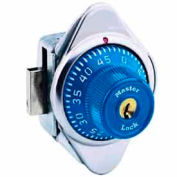 Master Lock® Built-In Combination Lock Blue Metal Dial, Right Hinged