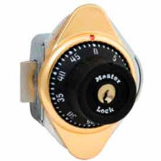 Master Lock® Built-In Combination Lock with long bolt, Brass Plate, Right Hinged