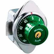 Master Lock® No. 1652MDGRN Built-In Combination Lock with long bolt - Green Dial - Right Hinged