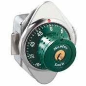 Master Lock® Built-In Combo Lock for Horizontal Latch Box Locker, Green Dial, RH