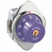 Master Lock® Built-In Combo Lock for Horizontal Latch Box Locker, Purple Dial, RH