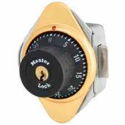 Master Lock® Built-In Combo Lock for Horizontal Latch Box Locker, Brass Plate, LH