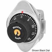 Master Lock® Built-In Combo Lock for Horizontal Latch Box Locker, Green Dial, LH