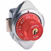 Master Lock® Built-In Combination Deadbolt Lock, Red Dial, Right Hinged