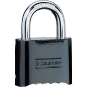 Master Lock® No. 178BLK Bottom Resettable Combination Padlocks - Pkg Qty 6
