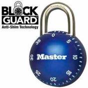 "Master Lock® SmoothSpin Combination Padlock, 11/16"" Shackle Blue Dial"