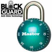 "Master Lock® SmoothSpin Combination Padlock, 11/16"" Shackle Green Dial"