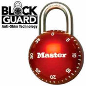 "Master Lock® Smoothspin Combination Padlock, 11/16"" Shackle Red Dial"