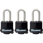 """Master Lock® No. 311SSTRILFHC Covered Laminated Padlock 1-1/2"""" Shackle - Black - Pkg Qty 3"""