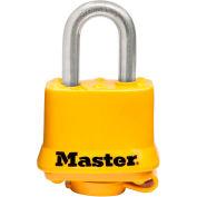 "Master Lock® Covered Laminated Padlock No. 315SSKADHC - 3/4"" Shackle - Yellow - Pkg Qty 6"
